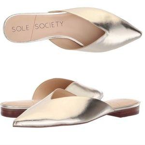 Sole Society Metallic Flats